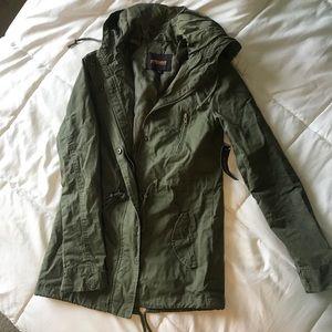 New olive green utility jacket